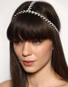 Asos grecian style leaf crown 3 strand headband at asos