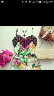 romper,necklace,bag,shoes,satin floral,lace,floral,tropical,lace romper,summer,shorts,dress,floral jumpsuit,colorful,boho hippie dress fashion,jumpsuit,flowers,color/pattern,style,fashion