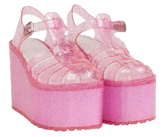 shoes pastel goth jellies kawaii shoes sparkle