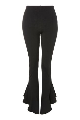 flare mermaid black pants