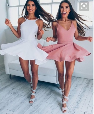 dress pink suede skater dress skater muave
