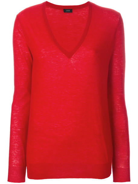 top knitted top women red