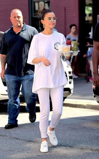 t-shirt top selena gomez sneakers pants sweatpants