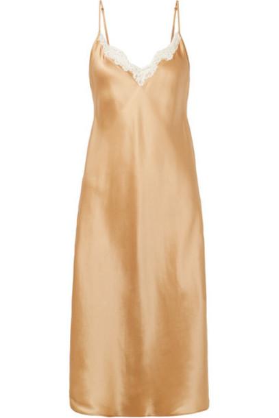 MES DEMOISELLES dress slip dress lace silk satin