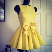 dress,yellow,cute dress,yellow dress,cute,lemon,pastel,mini dress,party,prom,brand,ribbon dress,robe,short dress,bow,summer,summer dress,little black dress,maxi dress,bag,bows,bow dress,gold dress,gorgeous,dress; yellow dress; yellow,need this now❤️,prom dress,homecoming dress,ribbon,short,luxury,girl,pleated dress