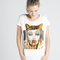 Camiseta mujer cat glitter collage