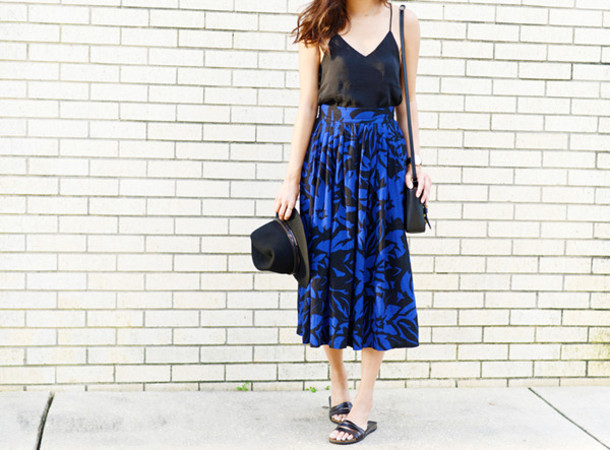 behind the seams blogger skirt jewels bag