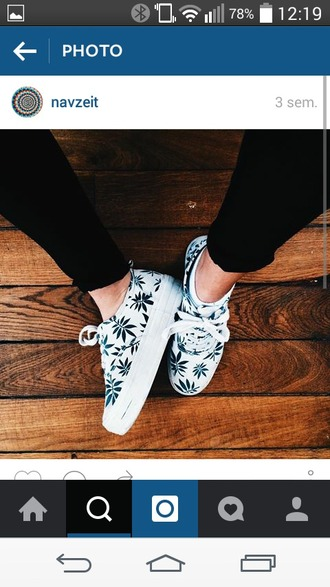 shoes basket leaves printed trainers fashion outfit idea