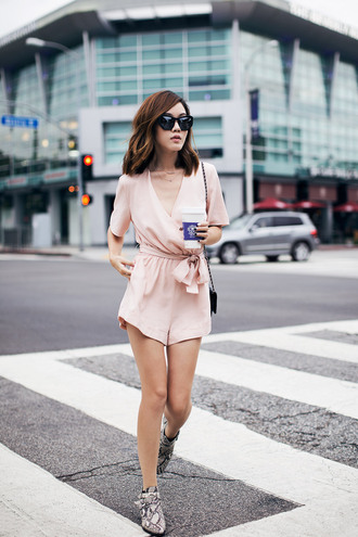 tsangtastic blogger romper jewels sunglasses
