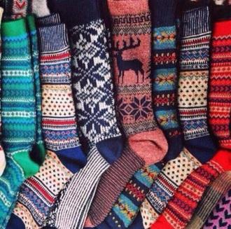 socks aztec tribal pattern