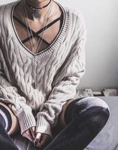 underwear,grey,black,strappy,bralette,cute,hipster,grunge,cozy,beige,cream,criss cross,comfy,comfysweater,comfortable outfit,fall outfits,fall sweater,thigh highs,over the knee socks,fashion,adorable outfit,sexy,chill,relax,pretty,cute outfits,cute sweaters,cute sweater,strappy bra,bralette top,bralet top,bra,cardigan,cable knit,oversized sweater,white,winter outfits,winter sweater,winter swag,plunge v neck,plunge neckline,deep plunge