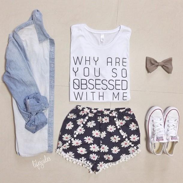 shorts shirt cardigan blouse