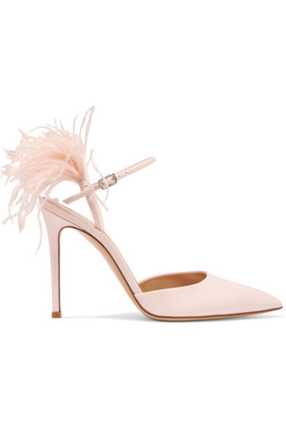 Gianvito Rossi baby 100 pumps leather pink baby pink shoes