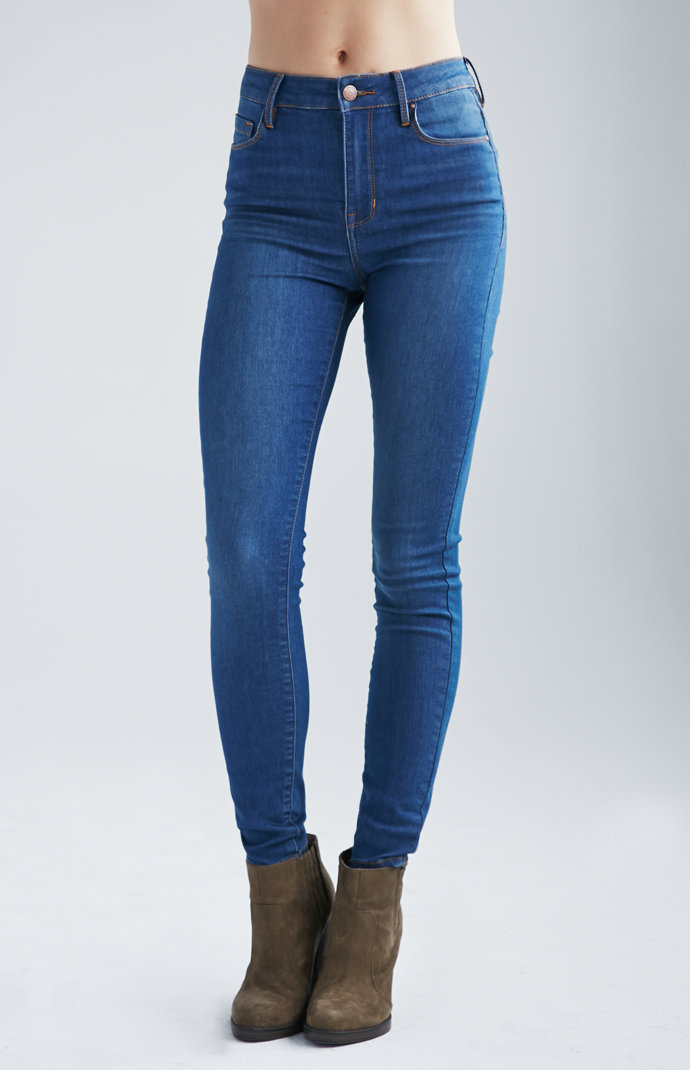 Denim Co. Azure Indigo Super High Rise Skinny Jeans at PacSun.com