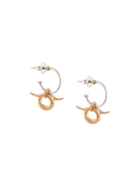 Charlotte Chesnais women earrings gold silver grey metallic jewels
