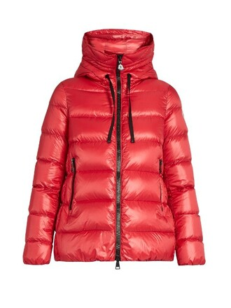 jacket down jacket quilted red