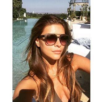 sunglasses shiva safai celebrity brown sunglasses summer beauty brunette