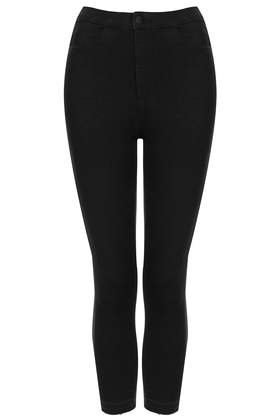 MOTO Black Cropped Joni Jeans - Jeans - Clothing - Topshop