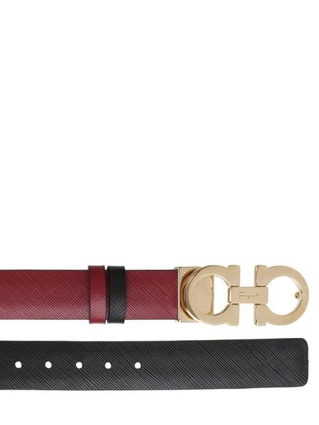 Salvatore Ferragamo belt leather burgundy