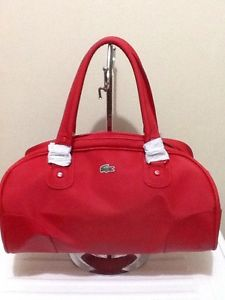 Sale BNWT Authentic Lacoste Classic Everyday Bowling BAG RED | eBay