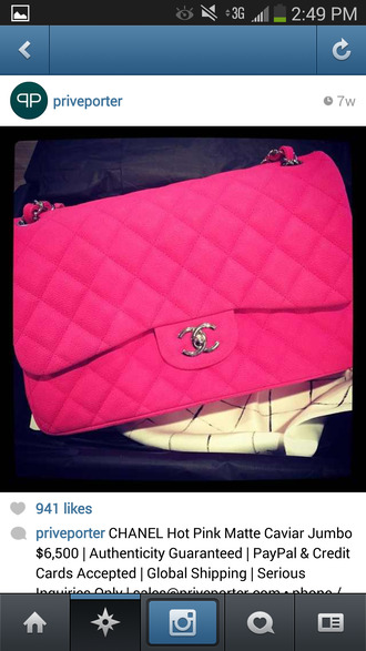 bag pink chanel