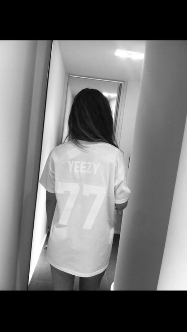 shirt tumblr white oversized t-shirt yeezy white yeezy shirt jersey shirt jersey dress white shirt floral shirt jersey tee shirt