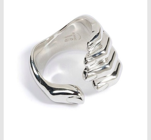 jewels ring silver hand