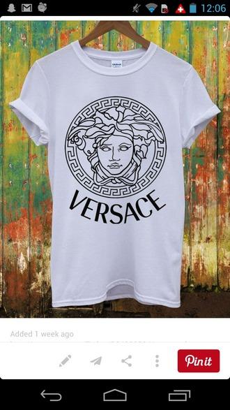 shirt versace black white tee