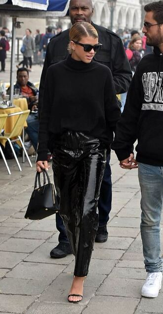 pants sofia richie sandals turtleneck sweater turtleneck sweater streetstyle fall outfits