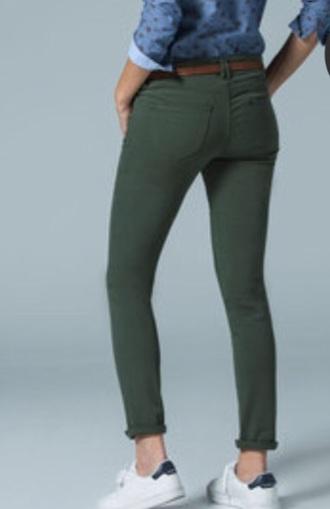 pants jeans kaki jeans kaki denim green fashion girly girl girls sneakers girly wishlist blouse red lime sunday