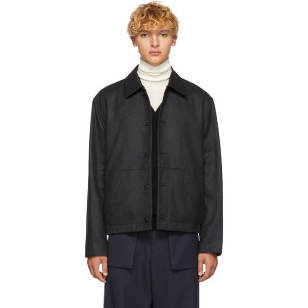 Kenzo Reversible Grey Wool Jacket