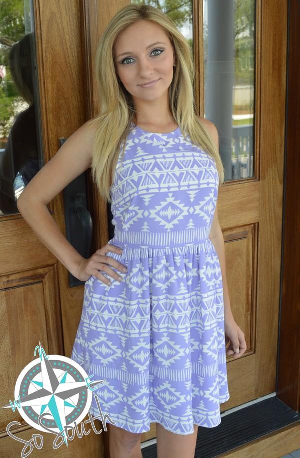 dress print purple purple dress aztec