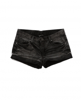 Distressed black denim shorts > chicnblessed.com