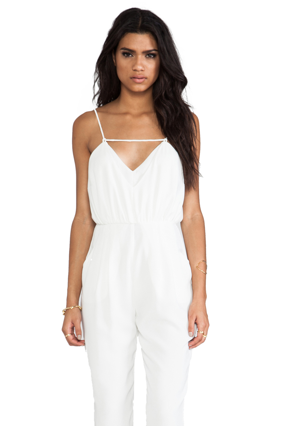 Finders Keepers The Someday Jumpsuit in Ivory | REVOLVE