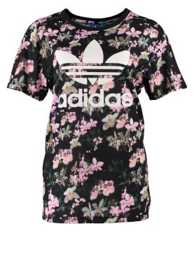 adidas originals orchid boyfriend print t shirt black. Black Bedroom Furniture Sets. Home Design Ideas
