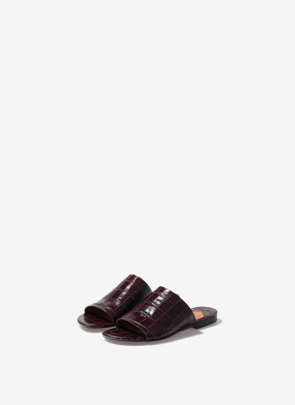 shoes mules sandals uterque brown shoes flat sandals