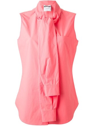 shirt blouse women cotton purple pink top
