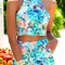 Halter crop top   floral print shorts twinset