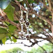 jewels,sterling silver,earrings,gemstone,sterling silver earrings,smoky quartz,sivalya