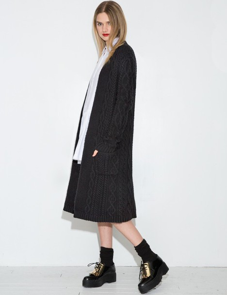 Cardigan: pixie market, black cardigan sweater, long cardigan ...