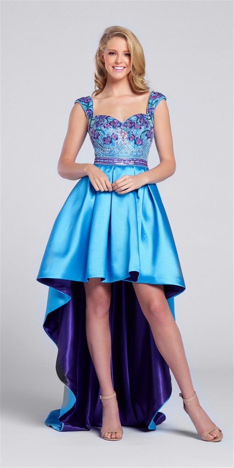 com : Buy Luxury Beaded Prom Dresses Sweetheart A Line Blue&Purple ...