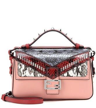 embellished bag shoulder bag leather