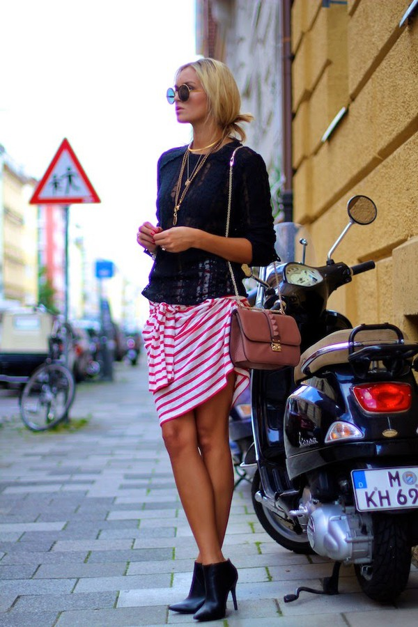 en vogue coop blogger top skirt shoes bag