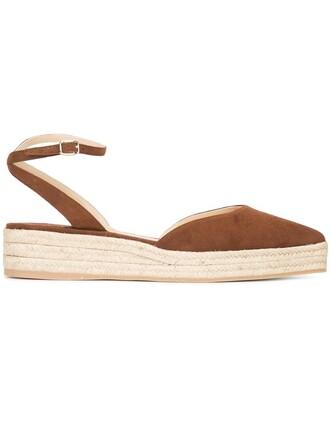 women espadrilles suede brown shoes
