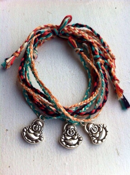 jewels buddha rope colourful
