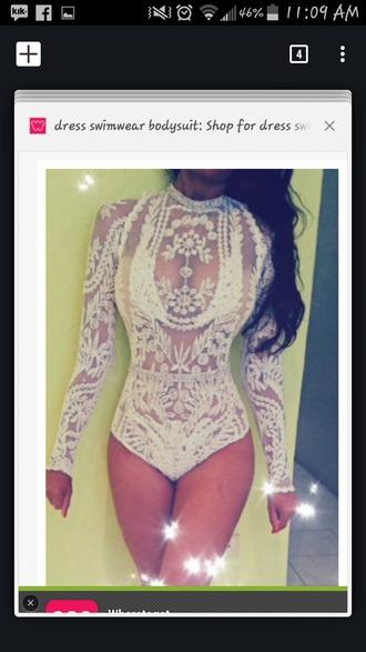 romper white lace lingerie leotard