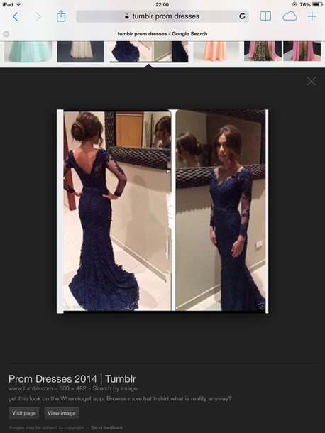 dress blue lace