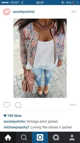 jacket floral floral-print fashion
