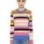 Striped Cotton Blend Knit Sweater