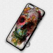 phone cover,skull,flowers,iphone,iphone case,iphone cover,iphone 4 case,iphone 4s,iphone 5 case,iphone 5s,iphone 5c,iphone 6 case,iphone 6 plus,iphone 6s plus cases,iphone 6s case,iphone 7 plus case,iphone 7 case